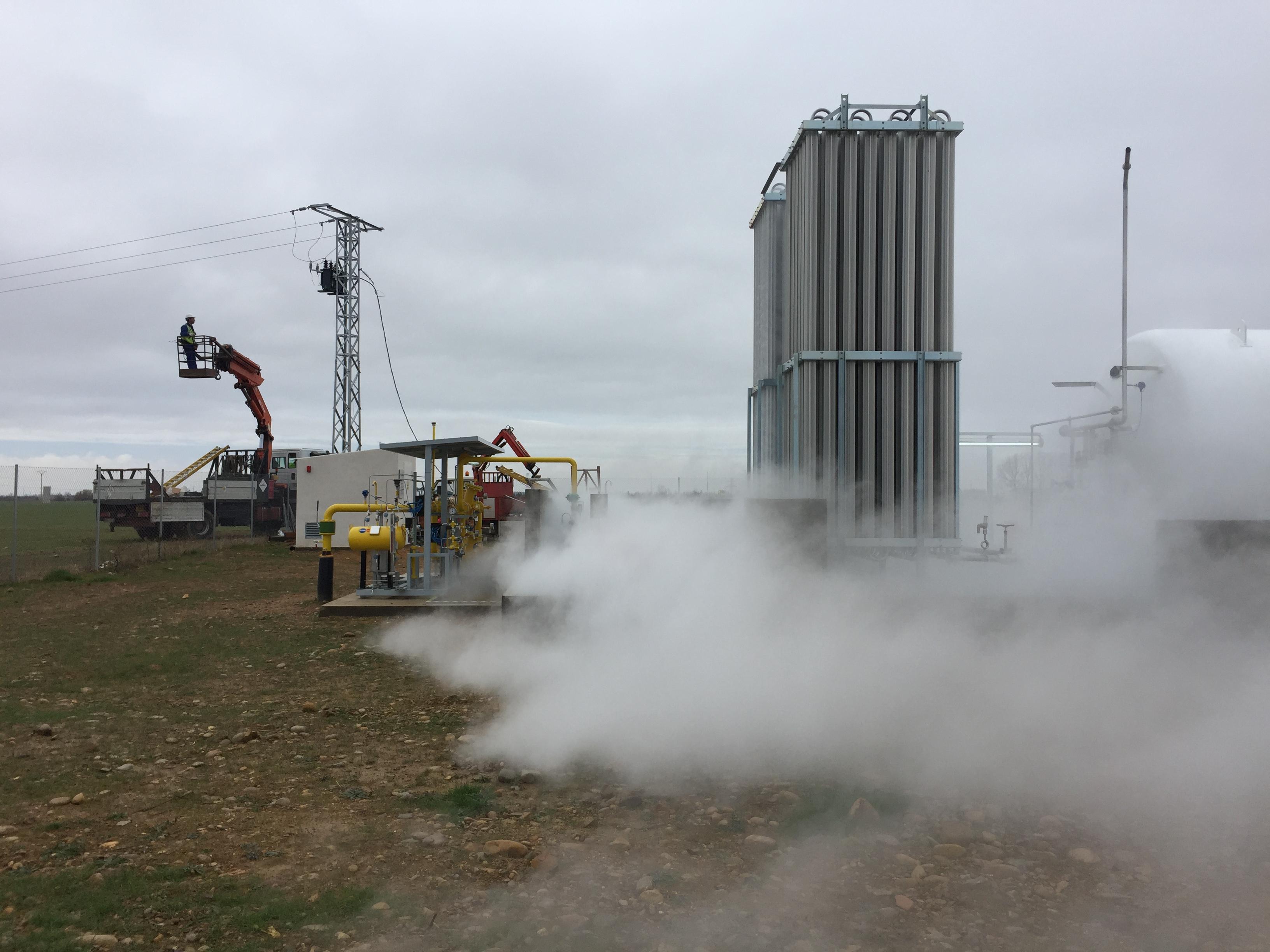 Instalación nueva derivación para suministro a planta de gas natural licuado
